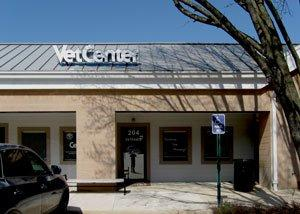 A photograph of the front of the Alexandria Vet Center.